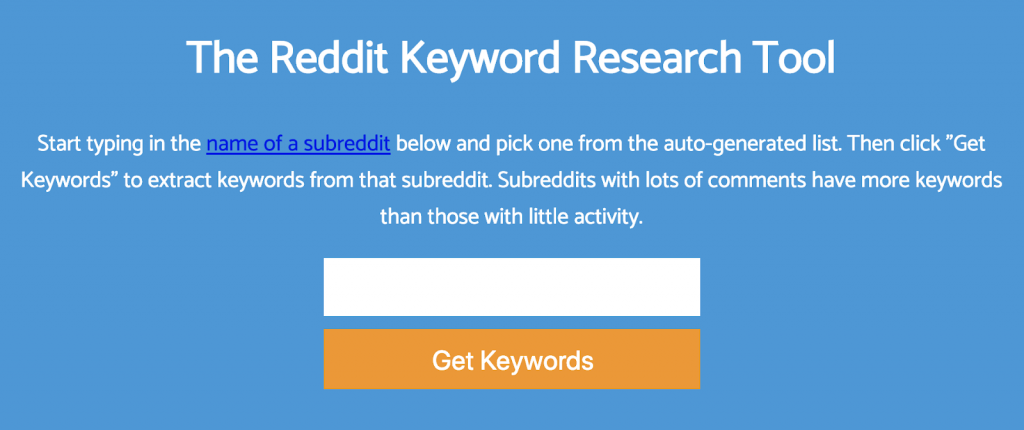 Keyworddit Keyword Research Tool