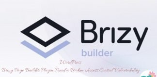 WordPress Brizy Page Builder Plugin Fixed a Broken Access Control Vulnerability
