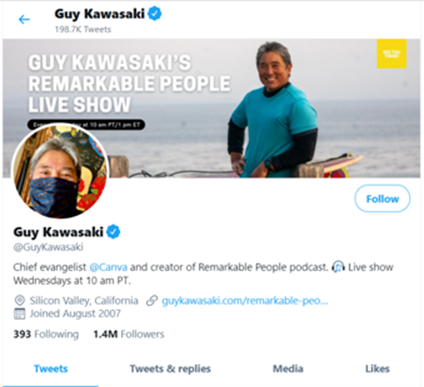 Guy Kawasaki Tweets
