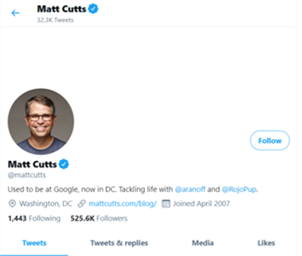 Matt Cutts Tweets