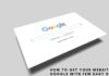 How To Get your Website on Google